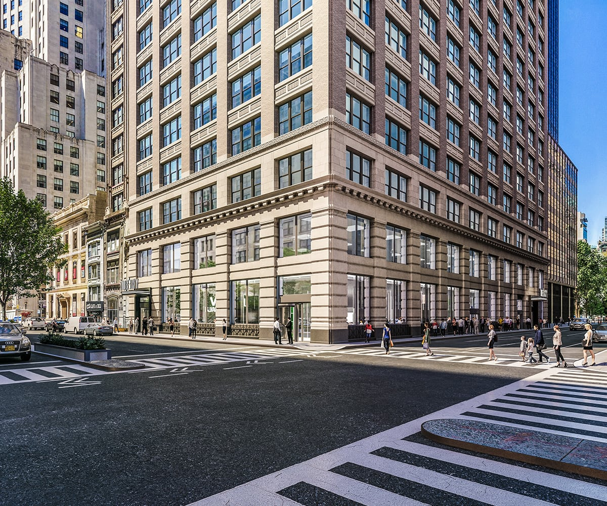 Wide View of Exterior Street Corner View of 360 Park Avenue South