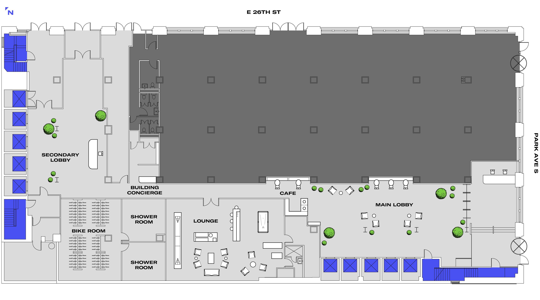 360 PAS' Lobby Floorplan