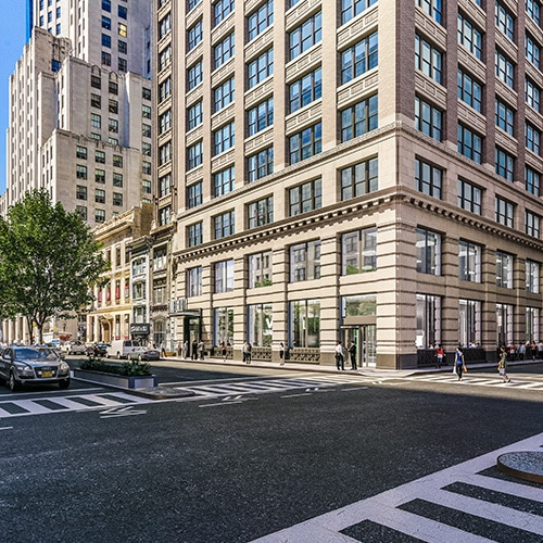 Street View Rendering of Intersection Outside 360 Park Avenue South